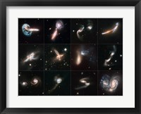 Framed Colliding Galaxies