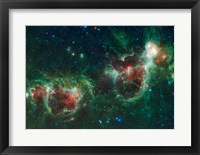 Framed Heart and Soul Nebulae