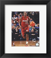 Framed Mario Chalmers 2011-12 Action