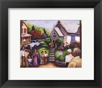 Framed Country Church Service