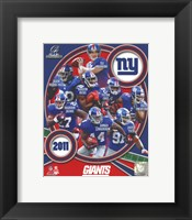Framed New York Giants 2011 NFC Champions Team Composite