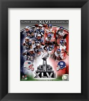 Framed SuperBowl XLVI Match Up Composite