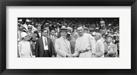 Framed US President Calvin Coolidge Presenting the American League Diploma to Walter Johnson