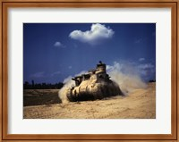 Framed M3 Lee Tank, Training Exercises, Fort Knox, Kentucky