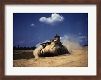 Framed M3 Lee Tank, Training Exercises, Fort Knox, Kentucky