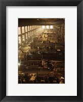 Framed North Western Railway Locomotive Shops, Chicago, Illinois
