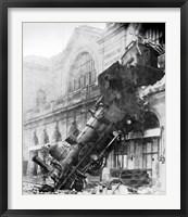 Framed Train Wreck at Montparnasse 1895