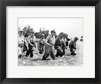 Framed Gen. Douglas MacArthur Wades Ashore During Initial Landings at Leyte, Philippine Islands