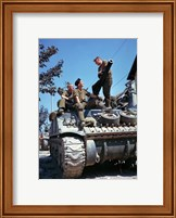 Framed Crew of a Sherman Tank