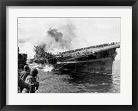 Framed Attack on Carrier USS Franklin March 1945