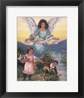 Framed Black Guardian Angel