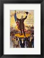Framed William McKinley Campaign Poster
