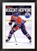 Framed Oilers - N Hopkins 11