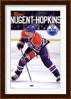 Framed Oilers - N Hopkins 11