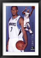 Framed Timberwolves - D Williams 11