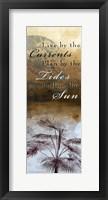 Framed Currents, Tides, Sun