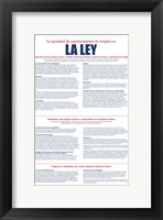 Equal Opportunity Employment Spanish Version 2012 Framed Print