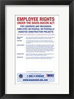 Employee Rights Under the Davis-Bacon Act Framed Print