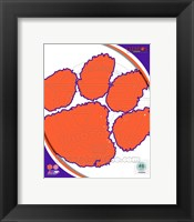 Framed Clemson University Tigers Team Logo
