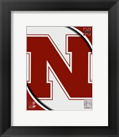 Framed University of Nebraska Cornhuskers Team Logo