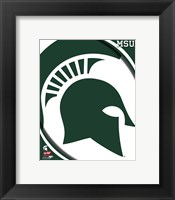 Framed Michigan State University Spartans Team Logo