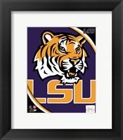 Framed Louisiana State University Tigers Team Logo