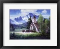 Framed Western Church