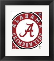 Framed University of Alabama Crimson Tide Team Logo