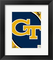 Framed Georgia Tech Yellow Jackets Team Logo