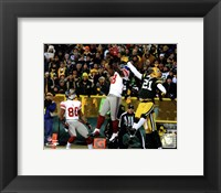 Framed Hakeem Nicks Touchdown NFC Divisional Playoff Game Action