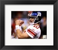 Framed Eli Manning Super Bowl XLVI