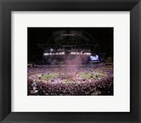 Framed Lucas Oil Stadium after the New York Giants won Super Bowl XLVI
