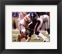 Framed Justin Tuck Super Bowl XLVI Action