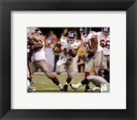 Framed Ahmad Bradshaw Super Bowl XLVI photograph
