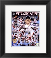 Framed New York Giants Super Bowl XLVI Champions PF Gold - Hand Numbered Limited Edition.  8x10's 5000, Enlargements 500.