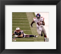 Framed Ahmad Bradshaw Super Bowl XLVI Running Action