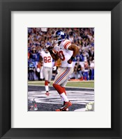 Framed Victor Cruz Super Bowl XLVI Action