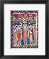 Framed Albani Psalter, appearance of the Risen One on the eighth day