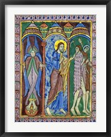 Framed Albans Psalter: Expulsion from Paradise