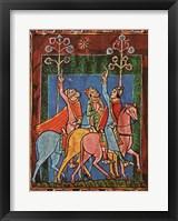 Framed St. Albans Psalter, The Three Magi following the star