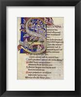Framed Psalm 136,  Initial S In Albani Psalter