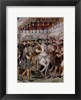 Framed Solemn Entrance of Emperor Charles V, Francis I of France