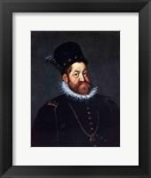 Framed Portrait of Emperor Rudolf II