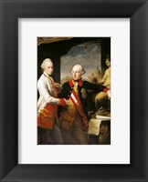 Framed Portrait of Emperor Joseph II and his younger brother Grand Duke Leopold of Tuscany
