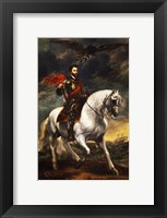 Framed Portrait of Charles V, Holy Roman Emperor, on Horseback