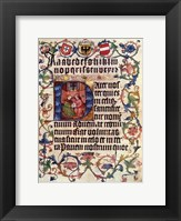 Framed Textura Alphabet and Lord's Prayer in Latin