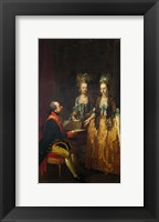 Framed Portrait of Emperor Joseph II at the Piano with His Sisters Maria Anna and Maria Elisabeth