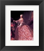 Framed Maria Theresia of Austria at the Age of 35