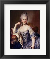 Framed Portrait of Marie Antoinette