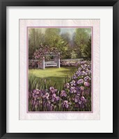 Framed White Swing in Arbor